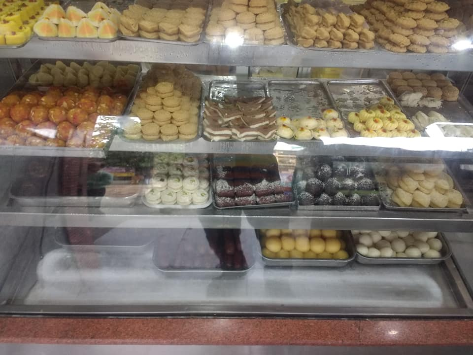 Bengali sweets at display